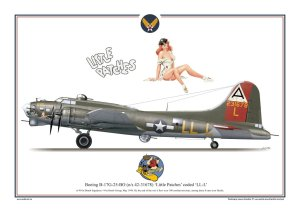 Exito 007 - Poster B-17 G Flying Fortress - Little Patches