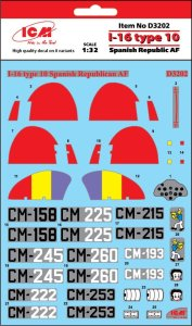 ICM D3202 - 1:32 I-16 type 10 Spanish Republic AF