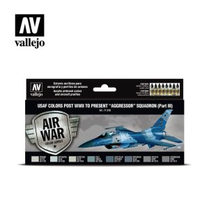 VALLEJO 71618 - USAF colors post WWII to present Aggressor Squadron Part III - Colors Set