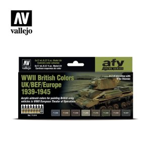VALLEJO 71614 - WWII British Colors UK/BEF/Europe 1939-1945 - Colors Set