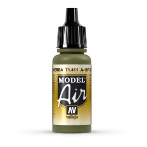 VALLEJO 71411 -  A-19F Grass Green 17 ml - Model Air