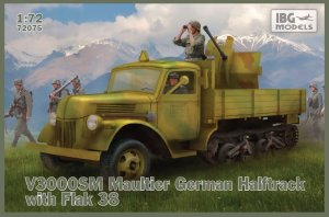 IBG 72075 - 1:72 V3000SM Maultier German Halftrack with Flak 38