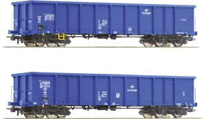 ROCO 76044 H0 - Set of 2 coal cars Eanos PKP Cargo