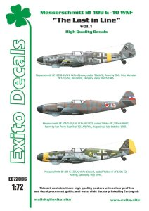 EXITO DECALS ED72006 - 1:72 The Last in Line vol.1 - Messerschmitt Bf 109 G-10 WNF