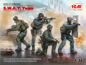 ICM DS2401 - 1:24 S.W.A.T. Team (4 figures)