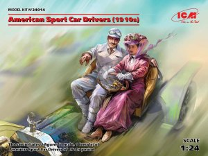 ICM 24014 - 1:24 American Sport Car Drivers (1910s)