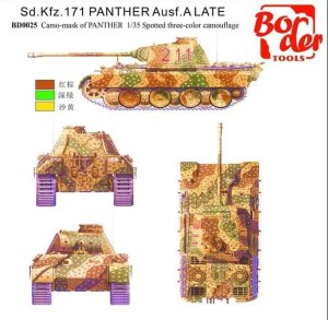 BORDER BD0025 - 1:35 Camouflage masking sheet for Panther A/G