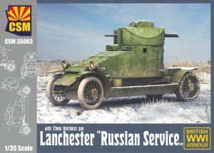COPPER STATE MODELS CSM 35003 - 1:35 Lanchester Russian Service with 37 mm Hotchkiss gun