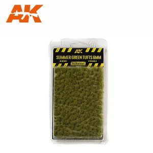 AK INTERACTIVE 8120 - Summer Green Tufts 6 mm