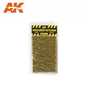 AK INTERACTIVE 8119 - Mixed Green Tufts 6 mm