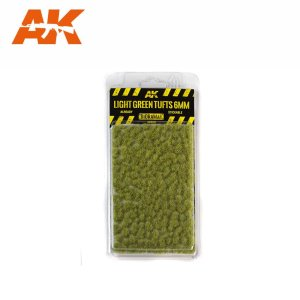 AK INTERACTIVE 8118 - Light Green Tufts 6 mm