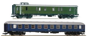 ROCO 74098 H0 -  Set of 2 wagons for DB express train.