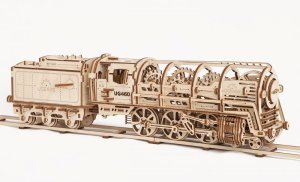 UGEARS 70012 - Locomotive with tender UG 460 - mechanical construction kit (3D puzzle)