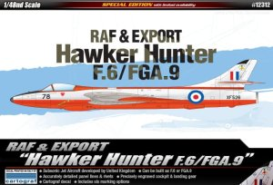 ACADEMY 12312 - 1:48 Hawker Hunter F.6/FGA.9 RAF & Export