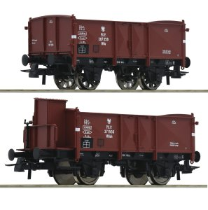 ROCO 76069 H0 - Set of two cargo cars type Wdoh & Wdo PKP