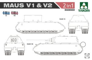 TAKOM 2050X - 1:35 Maus V1 & V2 Limited edition