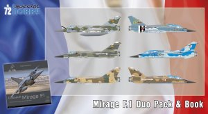 SPECIAL HOBBY 72414 - 1:72 Mirage F.1 Duo Pack & Book