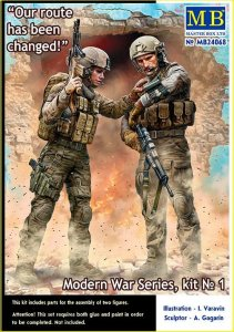 MASTER BOX 24068 - 1:24 Modern War Series, kit No. 1. Our route has been changed!