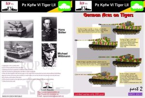 ROPOS MNFDT35019 - 1:35 PzKpfw IV Tiger I,II - German aces on Tigers