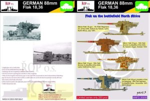 ROPOS MNFDT35009 - 1:35 German 88mm Flak 18,36 - Flak on the battlefied North Africa