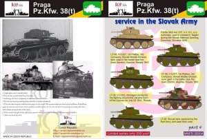 ROPOS MNFDT35004 - 1:35 Praga Pz.Kpfw. 38(t) - Service in the Slovak Army