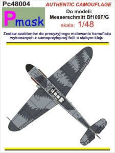 PMASK Pc48004 - 1:48 Camouflage painting masks for Bf109F/G Erla