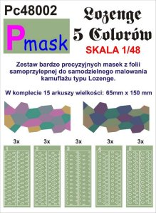 PMASK Pc48002 - 1:48 Lozenge - 5 colours