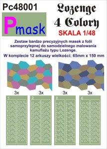PMASK Pc48001 - 1:48 Lozenge - 4 colours