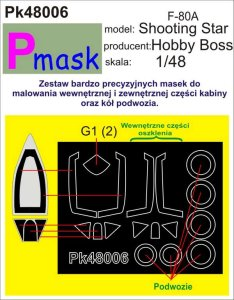 PMASK Pk48006 - 1:48 F-80A Shooting Star