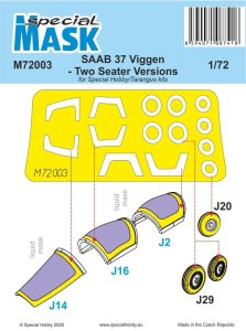SPECIAL HOBBY M72003 - 1:72 SAAB 37 Viggen Two Seater