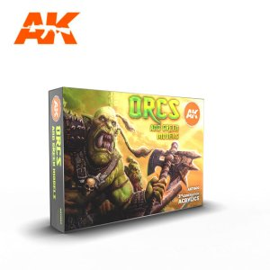 AK INTERACTIVE 11600 - Orcs and Green Models Set 6 x 17 ml