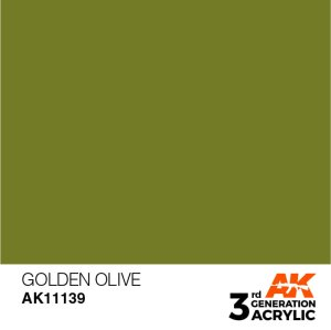AK INTERACTIVE 11139 Acrylic paint Golden Olive 17ml