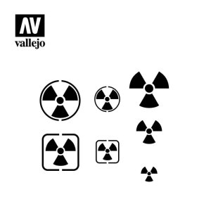 VALLEJO ST-SF005 - Radioactivity Signs stencil