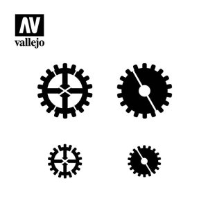 VALLEJO ST-SF001 - Gear Markings stencil