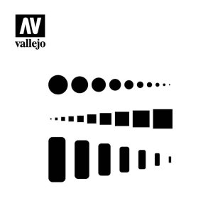 VALLEJO ST-AIR003 - 1:72 / 1:48 / 1:32 Access Trap Doors stencil