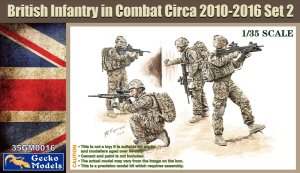 GECKO MODELS 35GM0016 - 1:35 British Infantry in Combat Circa 2010-2016 Set 2