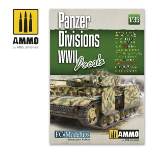 AMMO MIG 8061 - 1:35 Panzer Divisions WWII - decals set