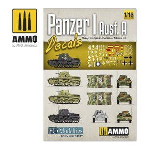 AMMO MIG 8060 - 1:16 Panzer I Ausf.A - decals set