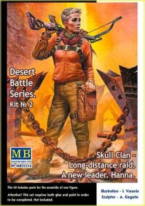 MASTER BOX 35214 - 1:35 Skull Clan - Long-distance raid. Kit №2. A new leader. Hanna - Pоst-apocalyptic fiction. Desert Battle Series