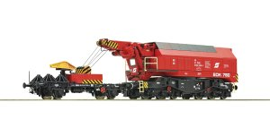 ROCO 73036 H0 - Slewing railway crane for digital operation, ÖBB