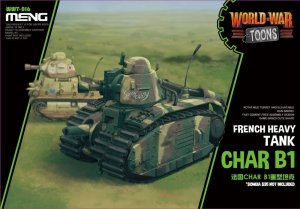 MENG MODEL WWT015 - World War Toons Char B1 French Medium Tank
