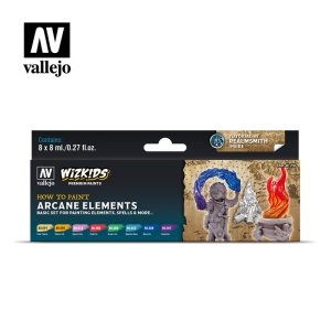 VALLEJO 80258 - Arcane Elements - WizKids Premium Paints Set 8 x 8 ml