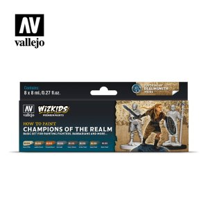 VALLEJO 80250 - Champions of the Realm - WizKids Premium Paints Set 8 x 8 ml