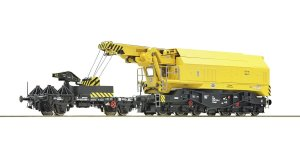ROCO 73035 H0 - Railroad crane with platform car, DCC DB