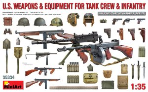 MINIART 35334 - 1:35 US Weapons & Equipment for tank crew & infantry