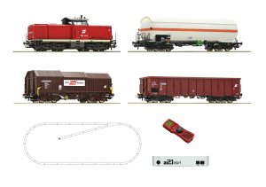 ROCO 51322 H0 - Digital starter set z21start: Diesel locomotive 2048 with freight train ÖBB