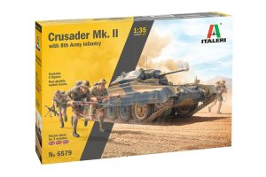 ITALERI 6579 - 1:35 Crusader Mk. II with 8th Army Infantry