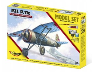 MIRAGE 848094 - 1:48 PZL P.11c - Model Set