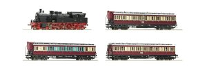 ROCO 61478 H0 - Train BR 78 with sound and 3 passenger cars, DRG