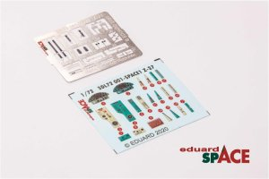 ED-3DL72001 - 1:72 Z-37 Space - 3D Decals + PE